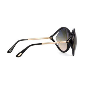 7cb2875771bc2 Tom Ford Accessories - New Tom Ford LIORA TF 528 01B Black   Gold Frame